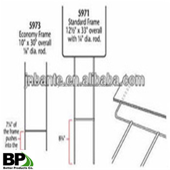 Hot Sales Metal Wire Stake H Frames Yard Sign Stakes - Buy Hot Sales ...