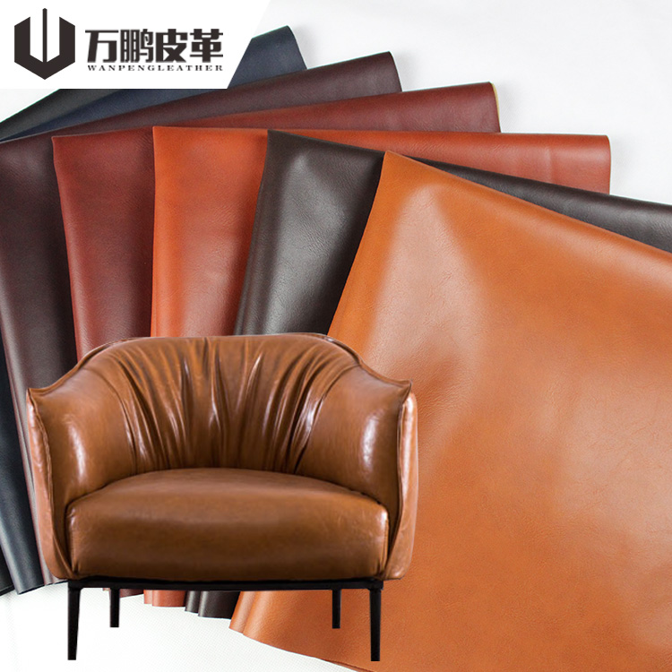 Wholesale Eco-Friendly Imitated Cotton Flannel Fabric Water Based Buffalo PU <strong>Leather</strong> For Sofa Shoes Bags