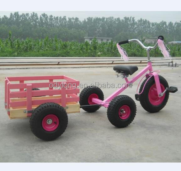 Kids Pedal Go Kart With Wooden Trailer Pedal Tricycle View Pedal Tricycle Odylong Xiaomengniu Product Details From Qingdao Aodelong Trade Co Ltd