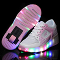 New 2016 summer Breathable shoes Child LED Heelys wheelys Roller Skate Shoes With Wheels GirlBoy meisjes