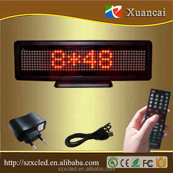 MLD-N848R-T Hot sales remote control EUR ASCII chars Meeting room desktop table LED digital display