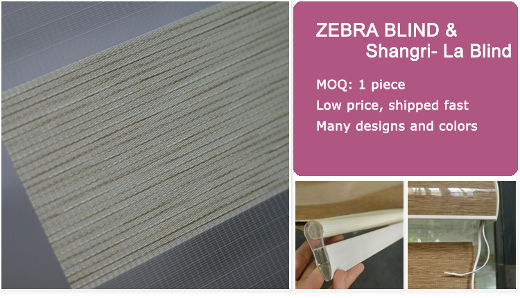 high quality indoor 100% polyester electric zebra blinds wireless remote control motorized blinds