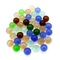 16MM 25MM Mix Color Round Glass Marbles For Children Toys
