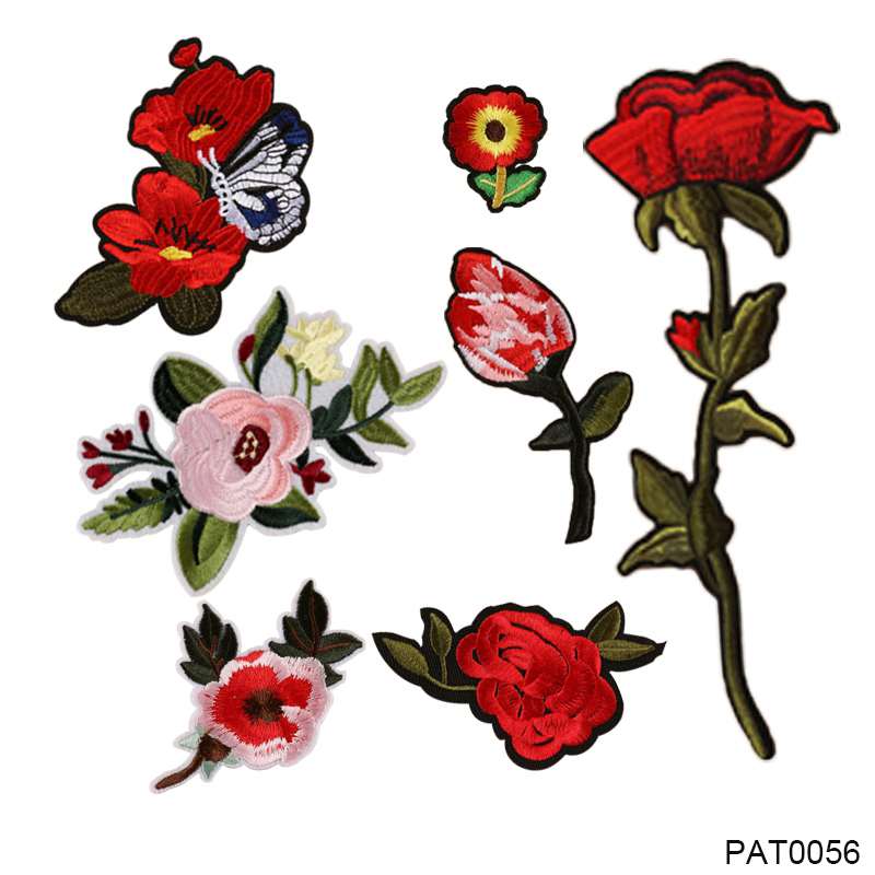 Iron On Applique Flower Rose Patch Floral Embroidery Patch