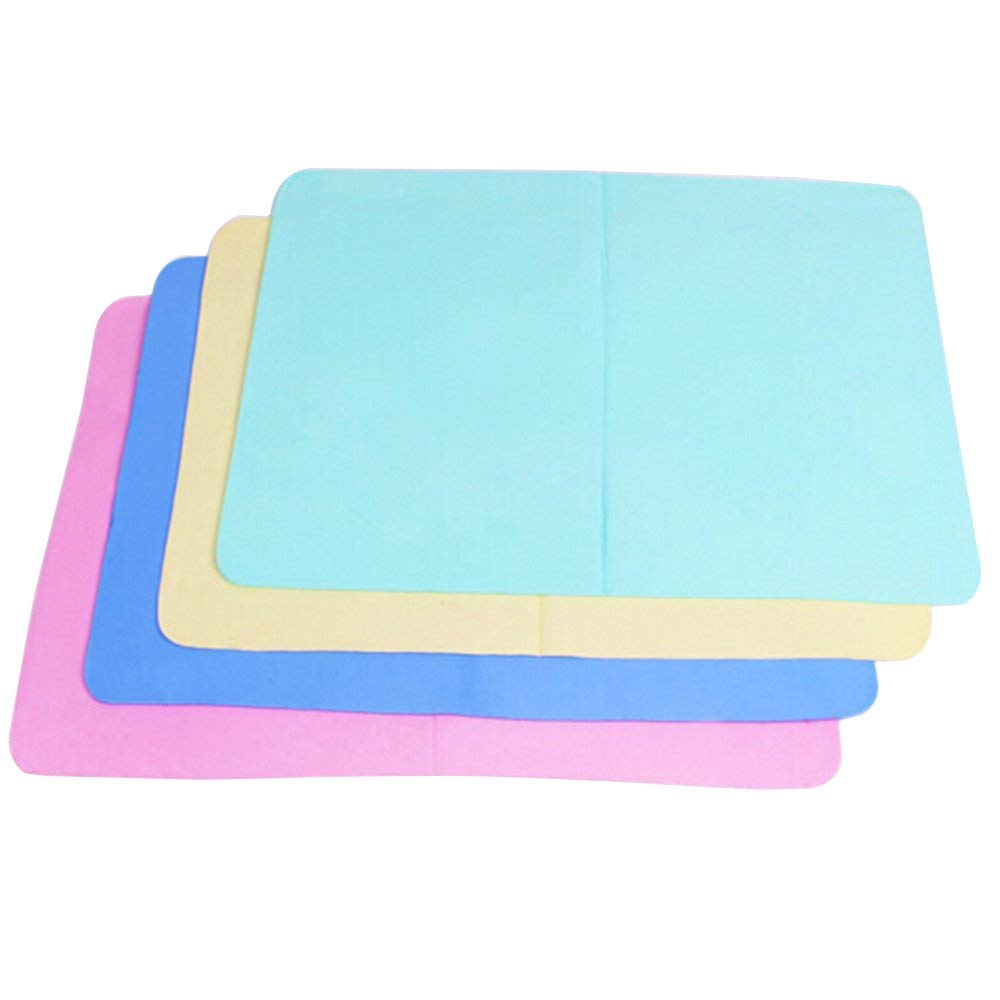 1Pc Faux Deerskin Leather Synthetic Artificial Chamois Towel Drying Cloth Super Absorbent Car Washing Wipes Cleaning Towel for Screen/Window/Glasses Cleaning,Furniture Caring and Hair Caring (Multi)