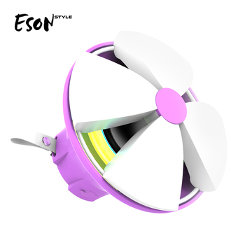 Eson Style Colorful 7 Lights RGB lamp Shiny flower IPX4 Waterproof Bluetooth outdoor carabiner Detachable wireless LED speakers