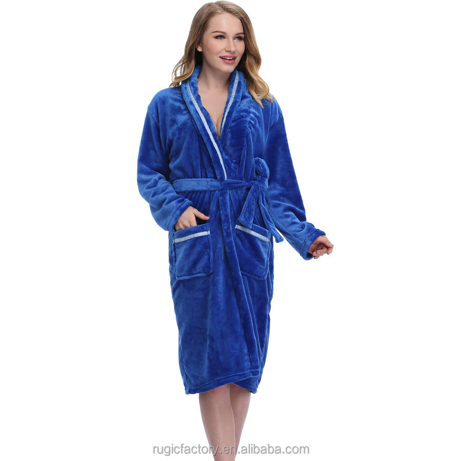 Ladies Plain Dressing Gown Secret Treasures Sleepwear High Quality ...