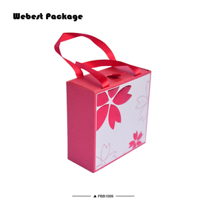 Webest Packaging Vintage Ring Box Wholesale Paper Handle Box Jewelry Gift Box with Ribbon