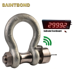 0.5t-1250t S6 safety alloy steel wireless load cell point load shackle