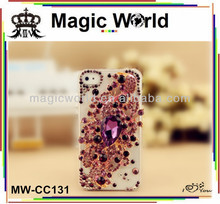 Jeweled Angel Tears luxury diamond cell phone case for samsung galaxy note 3