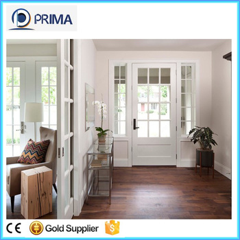 low cost teak wood frame interior glass french doors