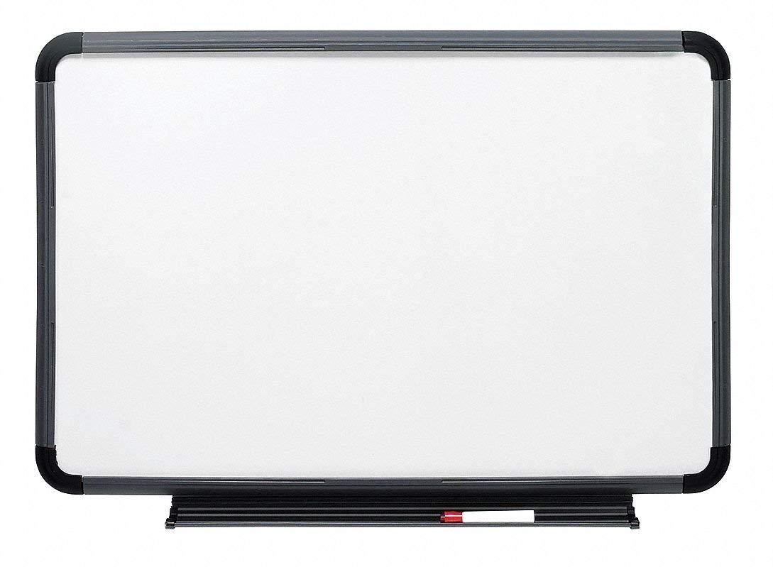 "Iceberg Gloss-Finish Melamine Dry Erase Board, Wall Mounted, 42""H x 66""W, White"