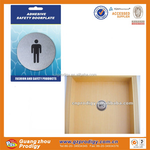 Stainless steel adhesive door plate/warning door signs in hotels