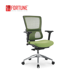 Modern American IT office furniture green armchair admin staff office swivel mesh chair with wheels and chrome base