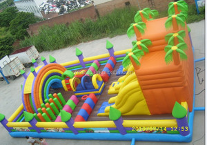 cheap floating kids fun city inflatable playground, giant inflatable playgrounds, adult inflatable floating obstacle