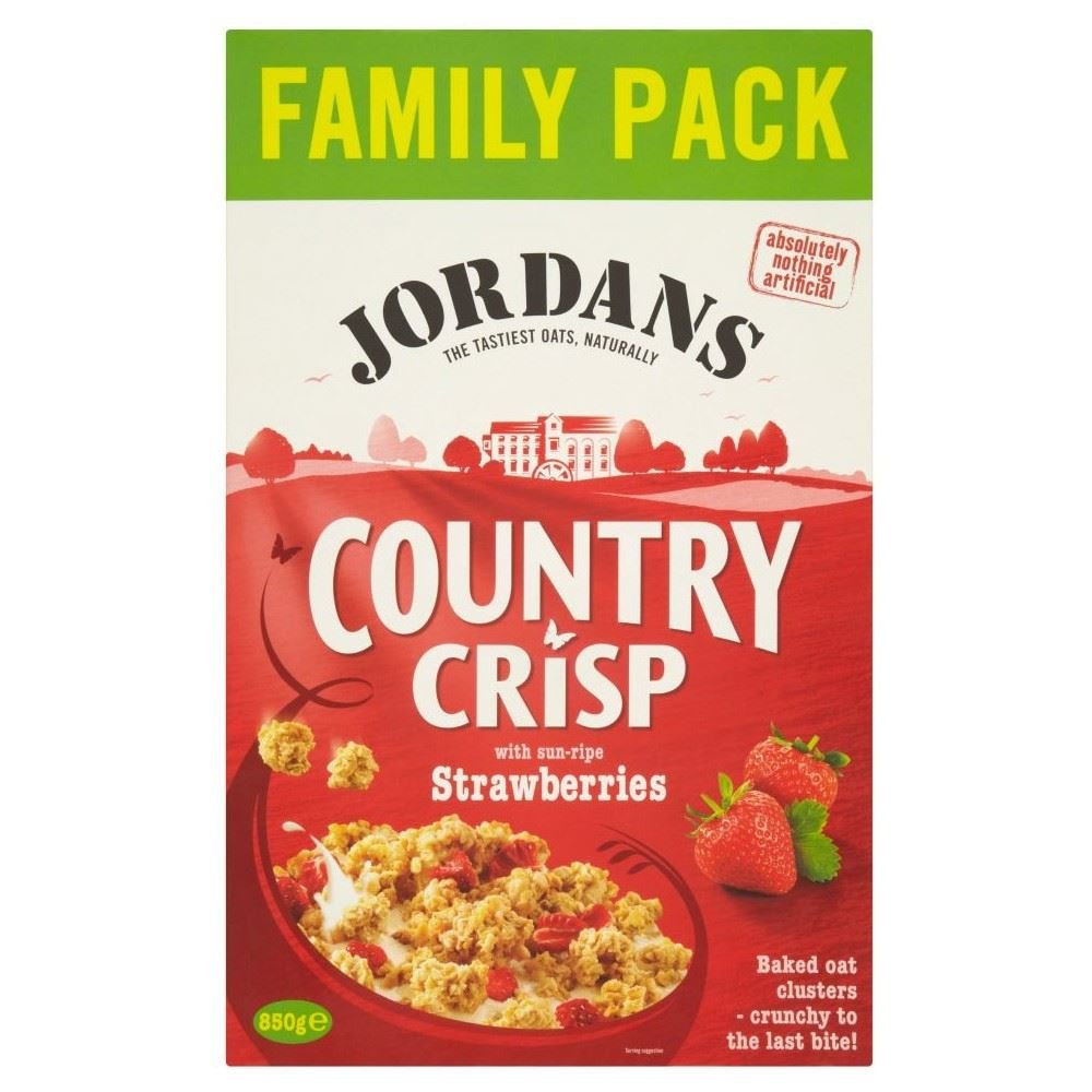 Jordans Country Crisp with Strawberries (850g)