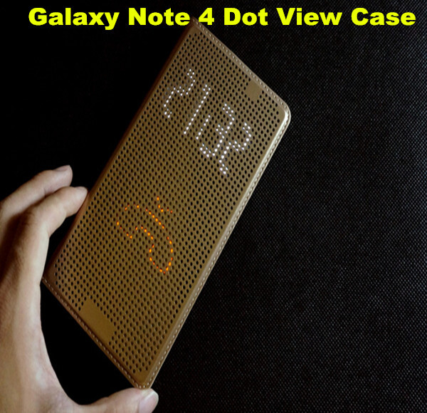 New Listing Ultra Thin Dot View Leather Case For Samsung Galaxy ...