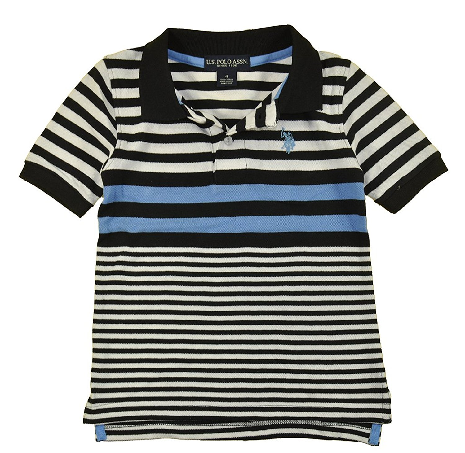 d178fee8 Get Quotations · US Polo Assn Little Boys S/S Striped White Blue Black Polo