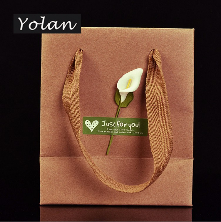 Yiwu brown Kraft paper bag paper shopping bag manufacturer wholesale