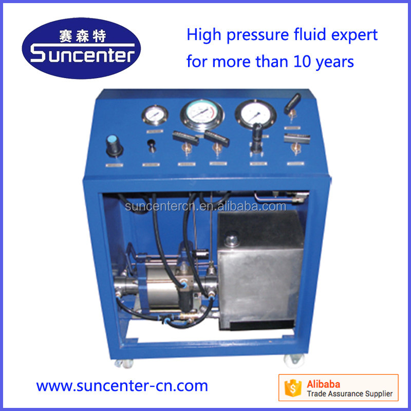 SUNCENTER high quality pneumatic driven hydrostatic pressure testing bench without any <strong>electricity</strong>