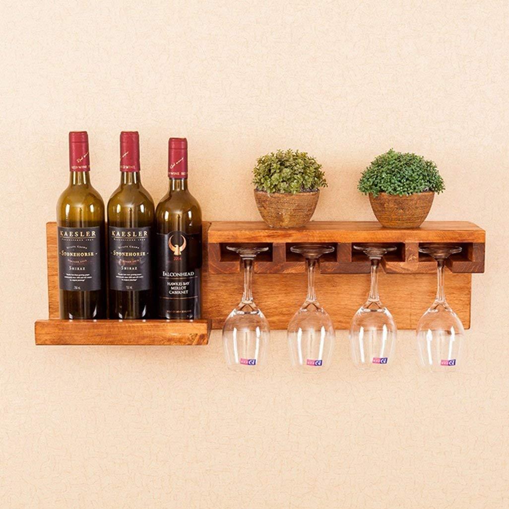 Get Quotations Wine Shelf Wall Mount Pine Wood Unit Floating Shelves 3 Bottle Gl Rack