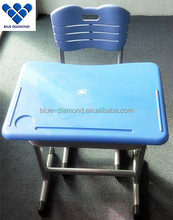 School furniture new design children used school single desk with chair for sale
