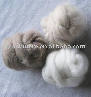 pure 100% dehaired cashmere tops fibre