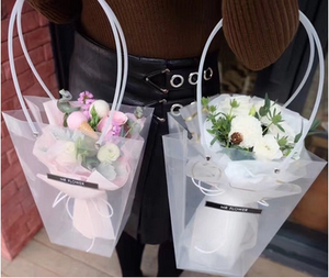 High quality plastic flower carrier bag