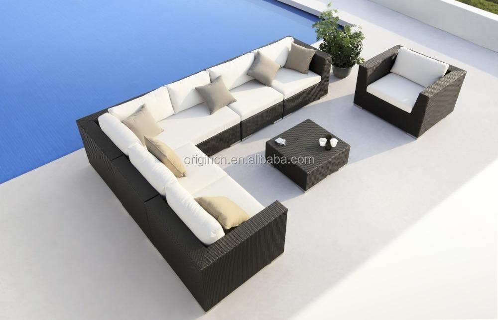 Cozy Classic Sofá Modular Con Mimbre Sola Silla Para Gran Familia Y ...