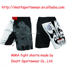 fully sublimation printed fight shorts MMA