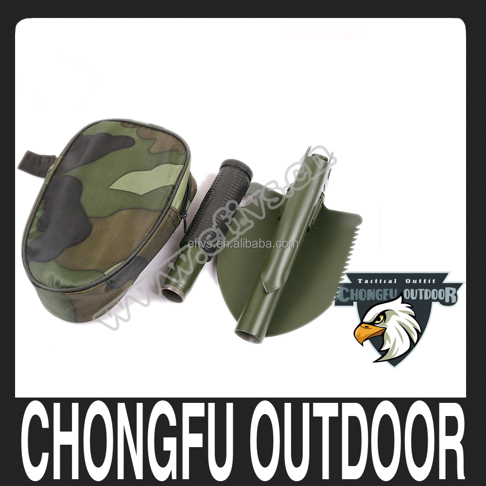 2017 New Product Multifunctional survival camping folding shovel wholesale alibaba