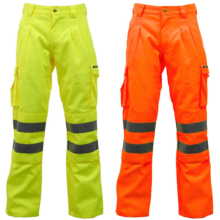 Match vêtements pantalon cargo/Hommes pantalon cargo avec poches latérales 100% coton