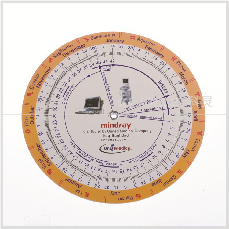 Chinese factory direct sell pregnancy wheel chart with ovulation