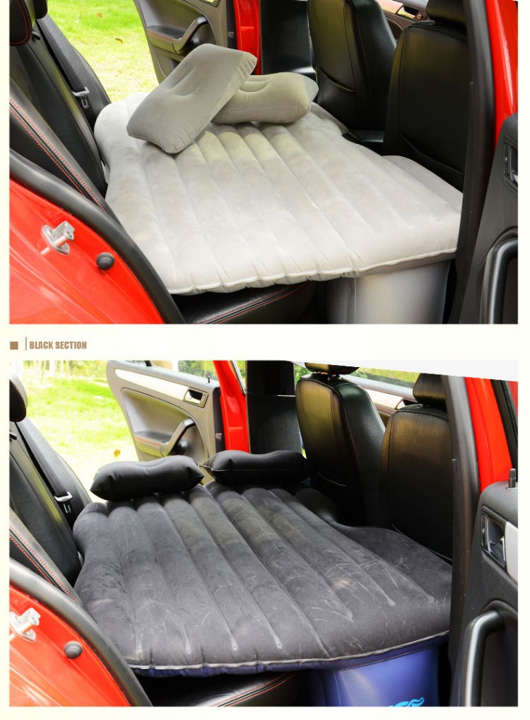 Portable Travel Car Back Seat Sleep Rest Inflatable Mattress Air Bed Kids Race