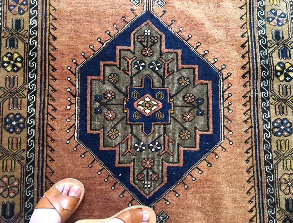 Vintage Handwoven Wool Runner | DOMINGO, Wool Rug, Handwoven Rug, Vintage Rug, Navy Handwoven Rug, Middle-Eastern Rug, Wool Vintage Rug