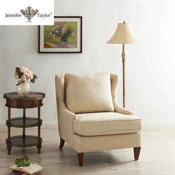 Esperando Salon Muebles De Lino Tela Tapizados Reclinable Silla ...