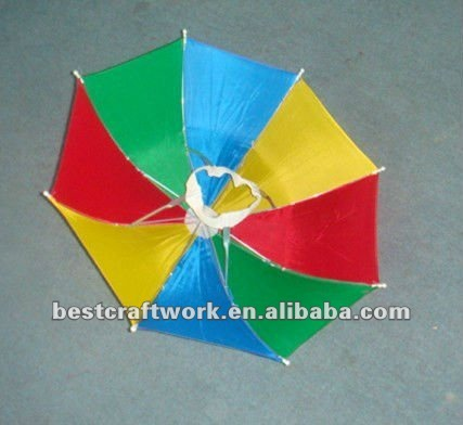 Colorful Rainbow Umbrella Hat With Lovely Style