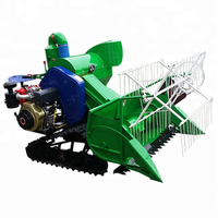 walking tractor mini rice harvester/paddy rice combine harvester