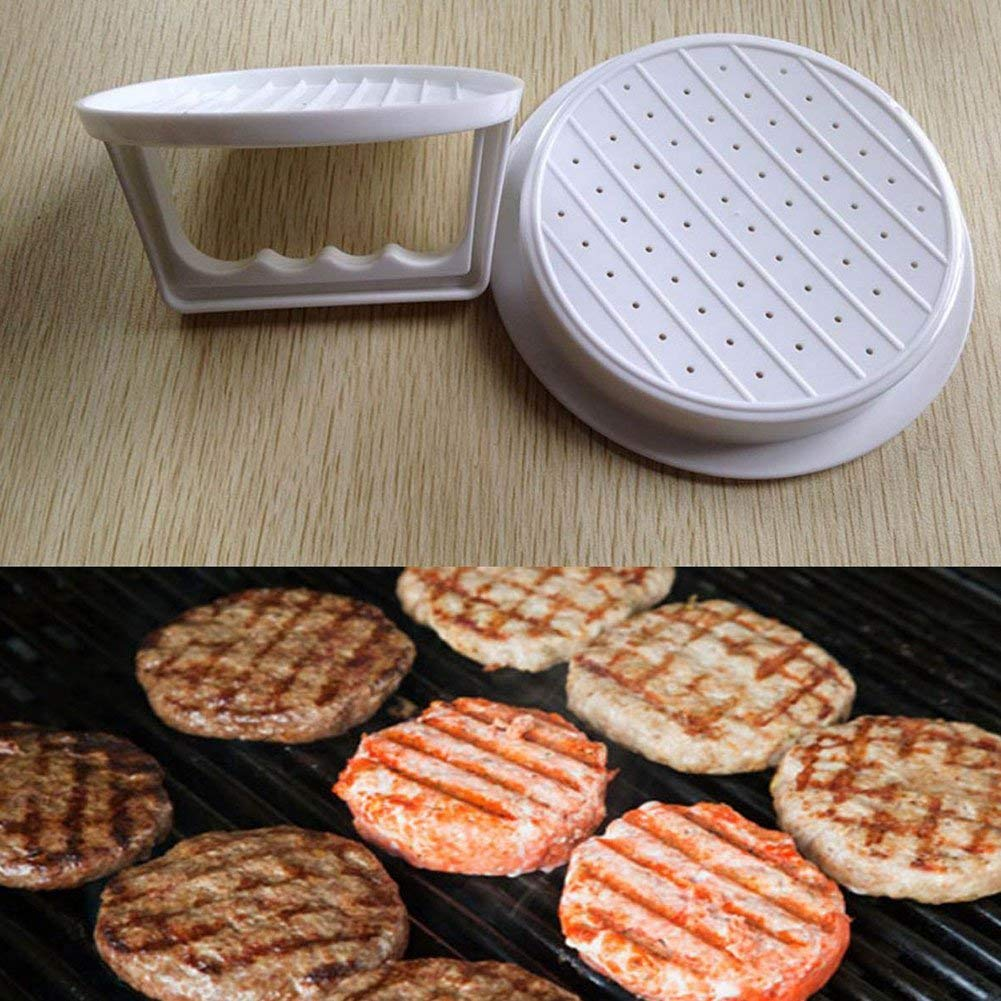 Non Stick Burger Press Patty Maker, Easy to Use, Dishwasher Safe, Works Best for Stuffed Burgers, Sliders, Regular Beef Burger, Essential Kitchen & Grilling Accessories(White)