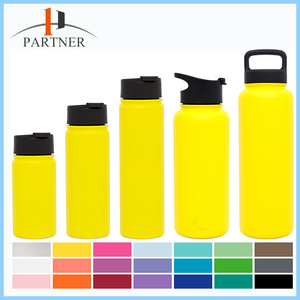 Insulated water bottle with straw, Hydro Travel, Powder Coated Double-Walled Flask