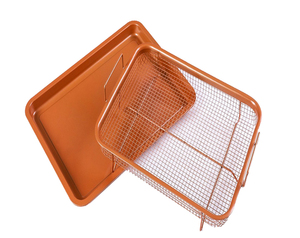 OKAY BK-D1072B baking tray set Fryer copper crisper chef pan set