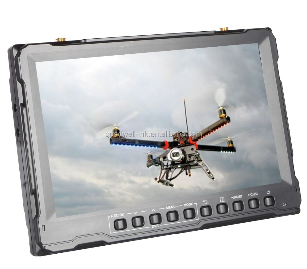 5.8GHz 8 Inch 32 Channel <strong>DVR</strong> for FPV Groundstation with Sun Shade