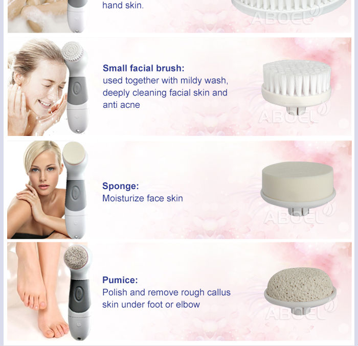 Deep Clean Skin Care Facial Washing Machine Hot Facial Cleansing Brush Portable Rotary Brush For Facial Buy Facial Brush Fine Bristles Exfoliate Rotary Facial Cleanser For Face 5 Speed Two Sides Clean