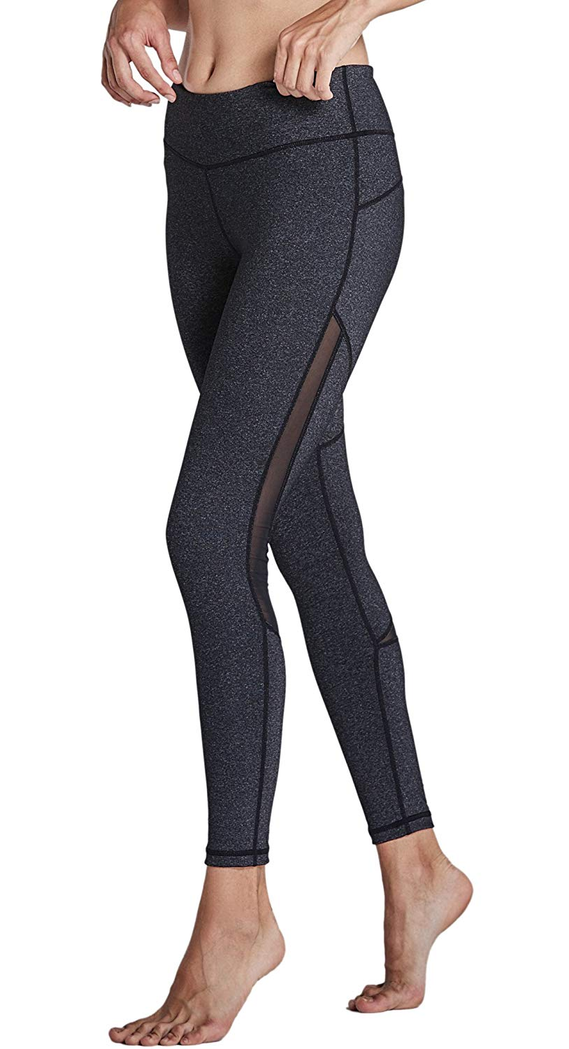 5055d5c857 Komprexx Womens Yoga Pants Mesh Workout Leggings with Pockets Exercise  Fitness Gym Tights Activewear