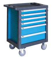 metal tool box trolley with 6 drawers, tools set, safe interlock available