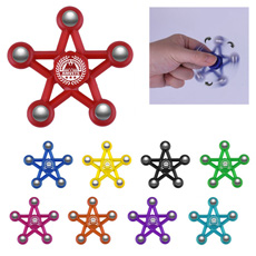 रचनात्मक डिजाइन ब्रांडेड लोगो फैंसी स्मार्ट शांत मध्य असर स्टील की गेंद टिप 5 स्टार में बनाया हाथ खिलौने fidget उंगलियों स्पिनर