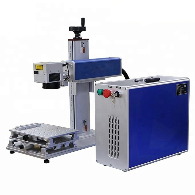 Split Desktop Fiber Laser Marking Machine 20W Metallgraviermaschine