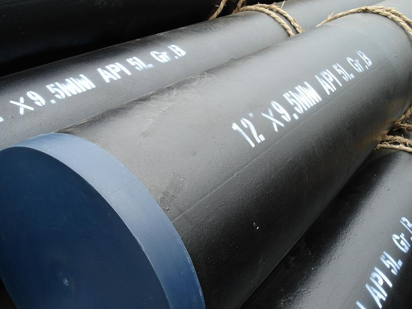 ASTM A53 Gr.B mild carbon semaless steel pipe manufacture r