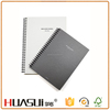 Fashion custom spiral design pvc plastic cover notebook