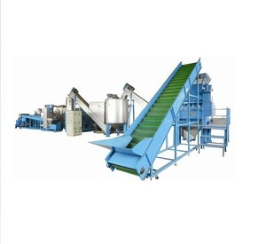 2018 hot cost of waste pp pe film plastic washing recycling line